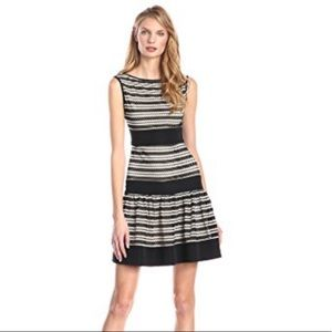 Taylor Crochet Drop Waist Fit & Flare Dress NWT 8